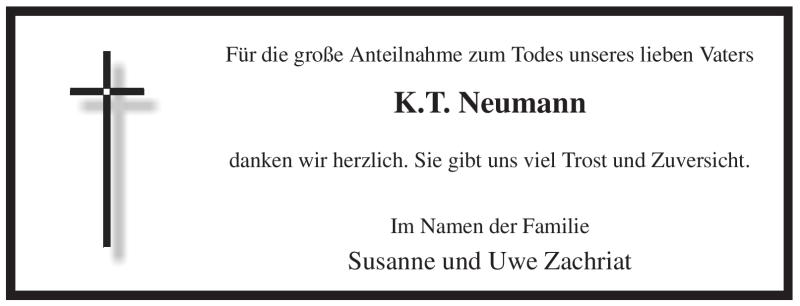 Traueranzeige für K.T. Neumann vom 23.06.2012 aus WESTFÄLISCHER ANZEIGER