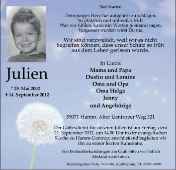 Profilbild von Julien Zienert