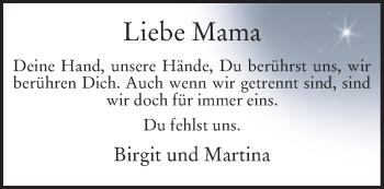 Zur Gedenkseite von Mama