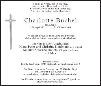 Zur Gedenkseite von Charlotte