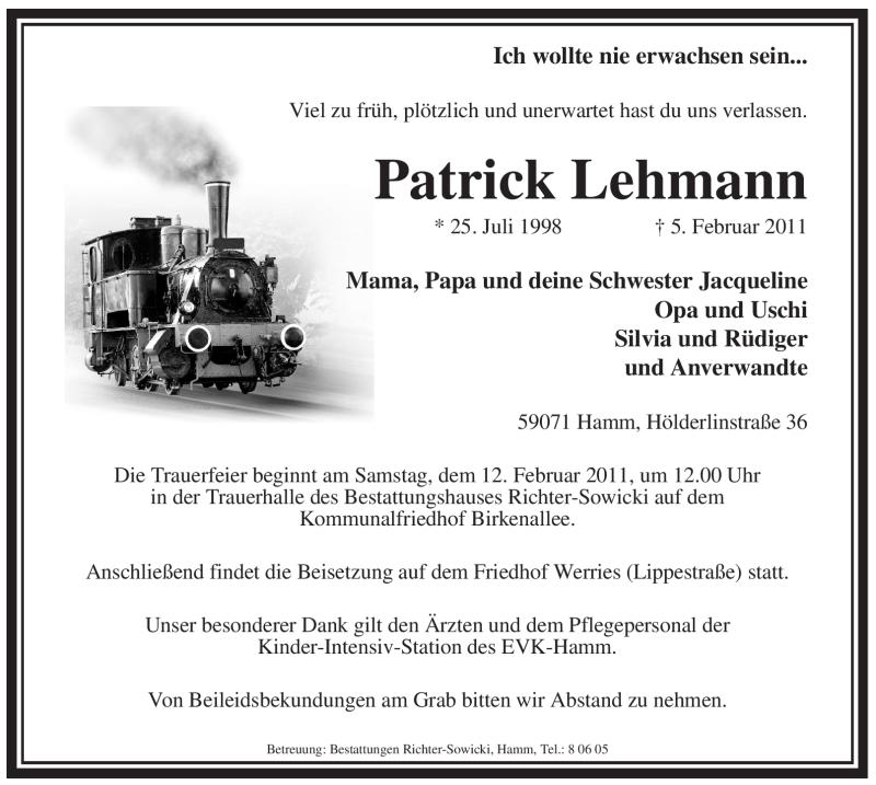 Anzeige von  Patrick Lehmann