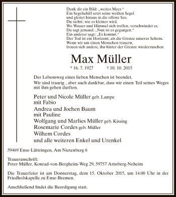 Zur Gedenkseite von Max