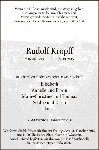 Zur Gedenkseite von Rudolf