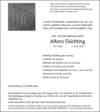 Zur Gedenkseite von Alfons