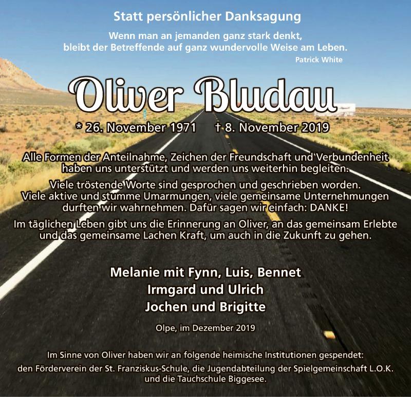 Traueranzeige für Oliver Bludau vom 11.12.2019 aus MZV