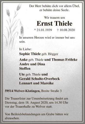 Ernst Thiele