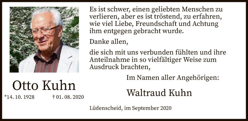 Traueranzeige für Otto Kuhn vom 19.09.2020 aus WA
